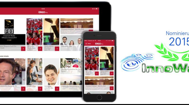 ERGO-interne Vertriebs-App für den InnoWard nominiert