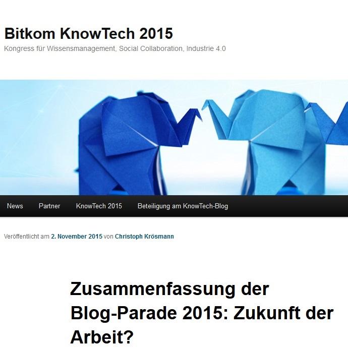 """Zusammenfassung der Blog-Parade """"Zukunft der Arbeit?"""""""