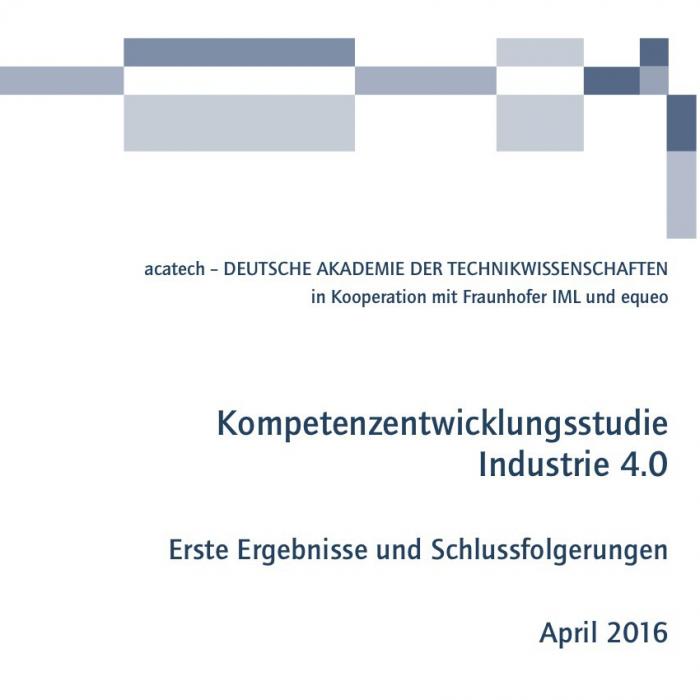 Kompetenzentwicklungsstudie Industrie 4.0
